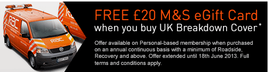 RAC Membership Offer with